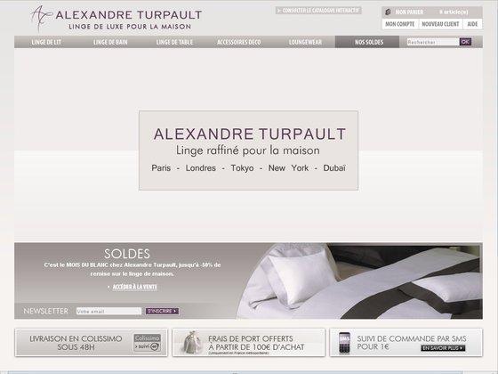 Alexandre turpault linge de maison de luxe for Alexandre turpault linge de maison soldes