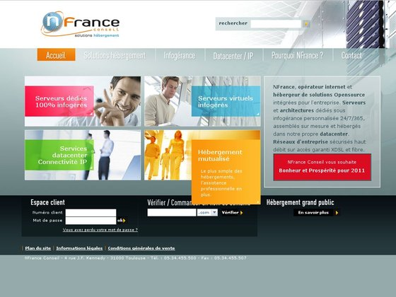 NFrance - Solution d'hébergement web