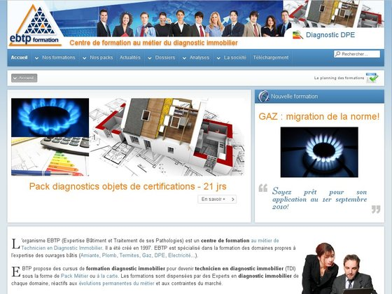 Formation diagnostic immobilier - EBTP