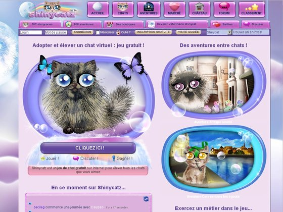 Elever un chat virtuel : Shinycatz