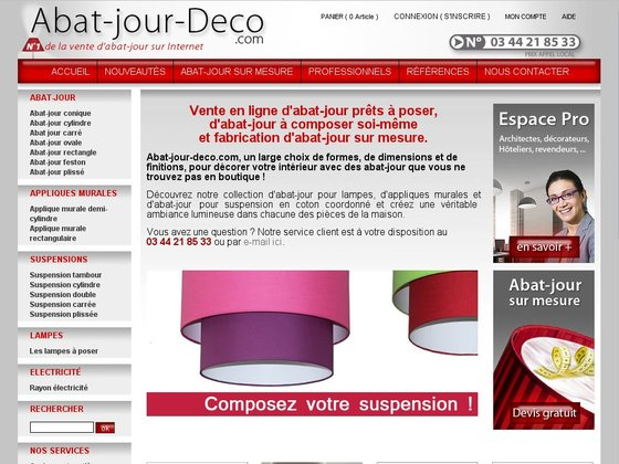 fabrication d 39 abat jour sur mesure de suspensions et d 39 appliques murales. Black Bedroom Furniture Sets. Home Design Ideas