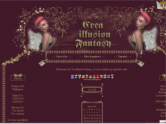 Ressources graphiques pour blogs, sites, forums - Crea illusion Fantasy