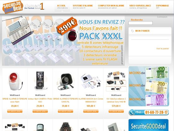 Securite good deal alarme sans fil videosurveillance for Alarme maison securite good deal