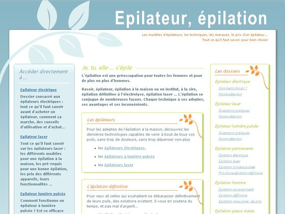 Le guide de l'épilation