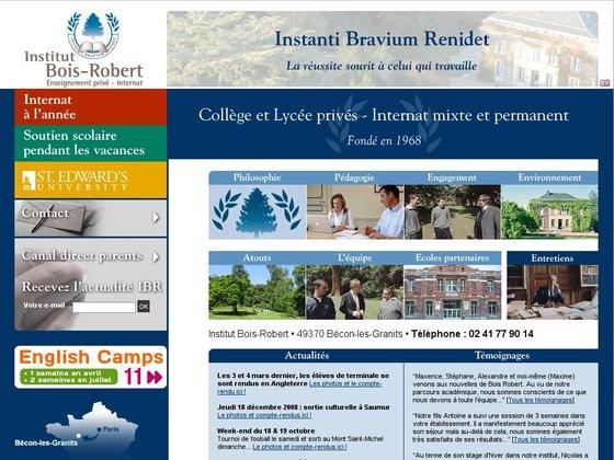 Institut BoisRobert, collège et lycée privée, internat mixte et  ~ Institut Bois Robert