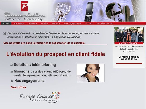 Phonevolution, call center en télémarketing et téléservices à Montpellier