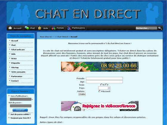 Chat en ligne rencontre sans inscription