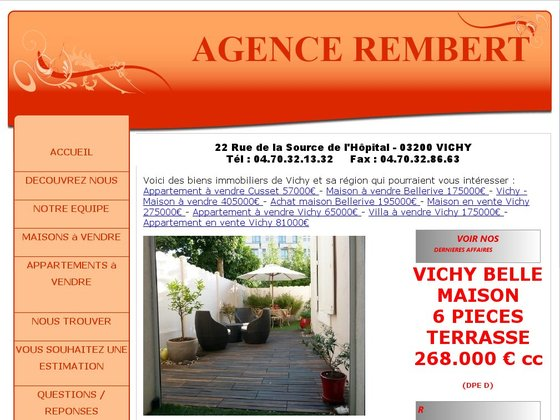 Immobilier à Vichy - Agence Rembert