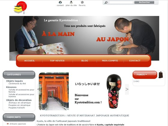 Artisanat japonais authentique - Kyototradition