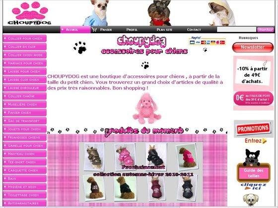 2906f8a6b5a17d Boutique en ligne d accessoires pour chiens - Choupydog