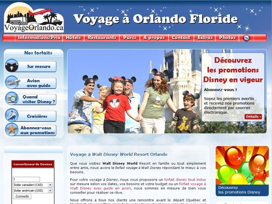 Forfaits voyage à Walt Disney World