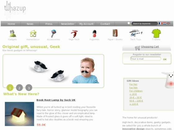 Id e cadeau et gadget high tech whazup for Idee commerce original