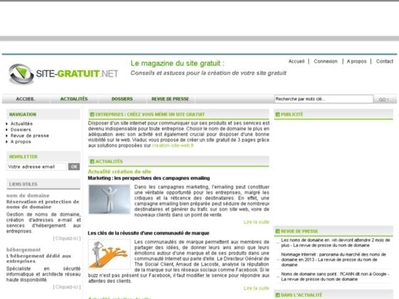 Le magazine du site internet gratuit for Site web gratuit