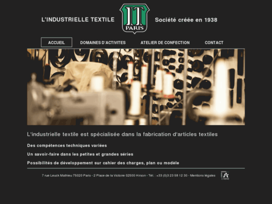 Atelier de confection Industrielle textile